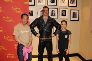 Warren and Christine Chow with a wax terminator